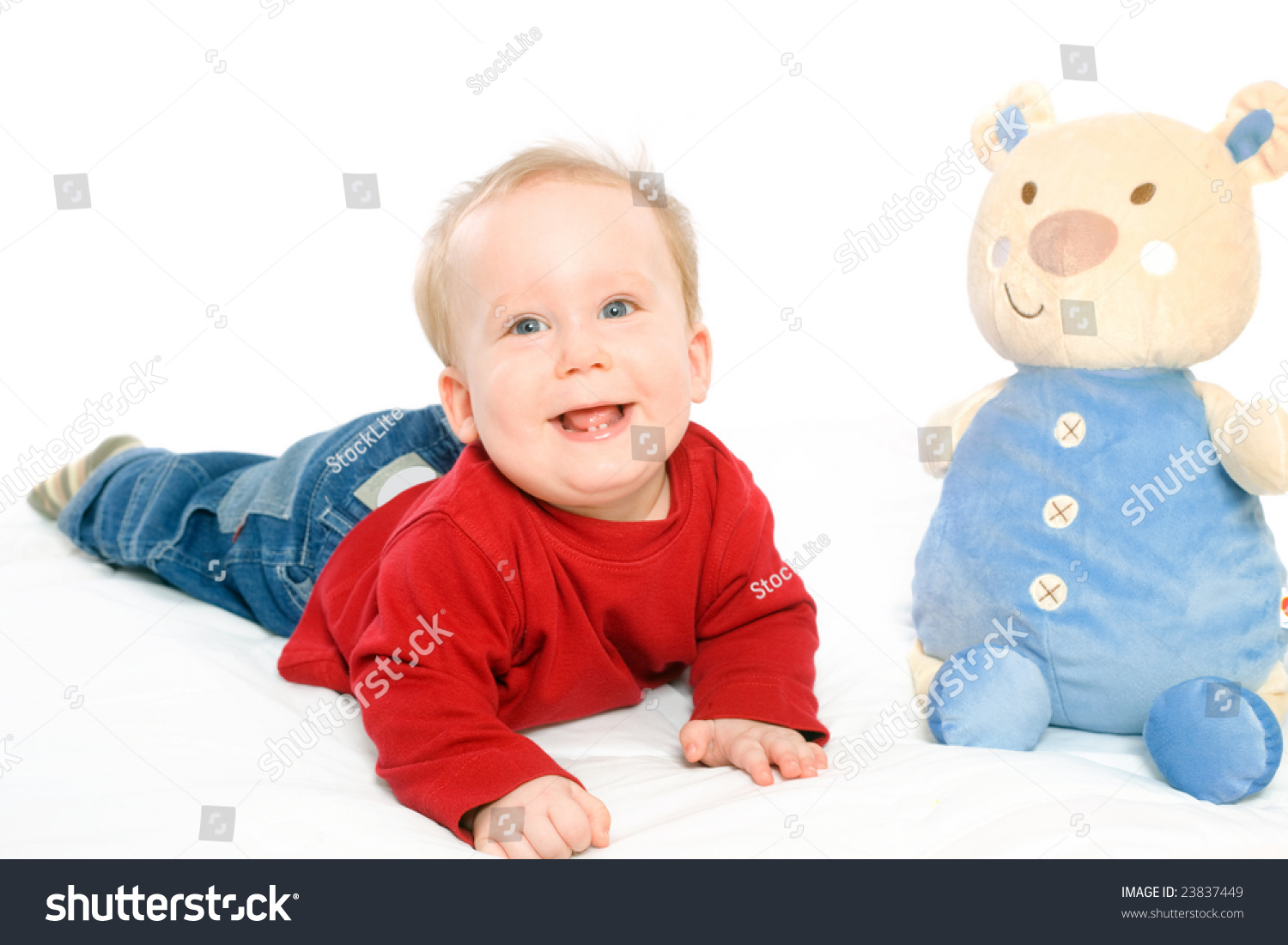 Happy Baby Boy 6 Months Old Stock Photo Edit Now 23837449