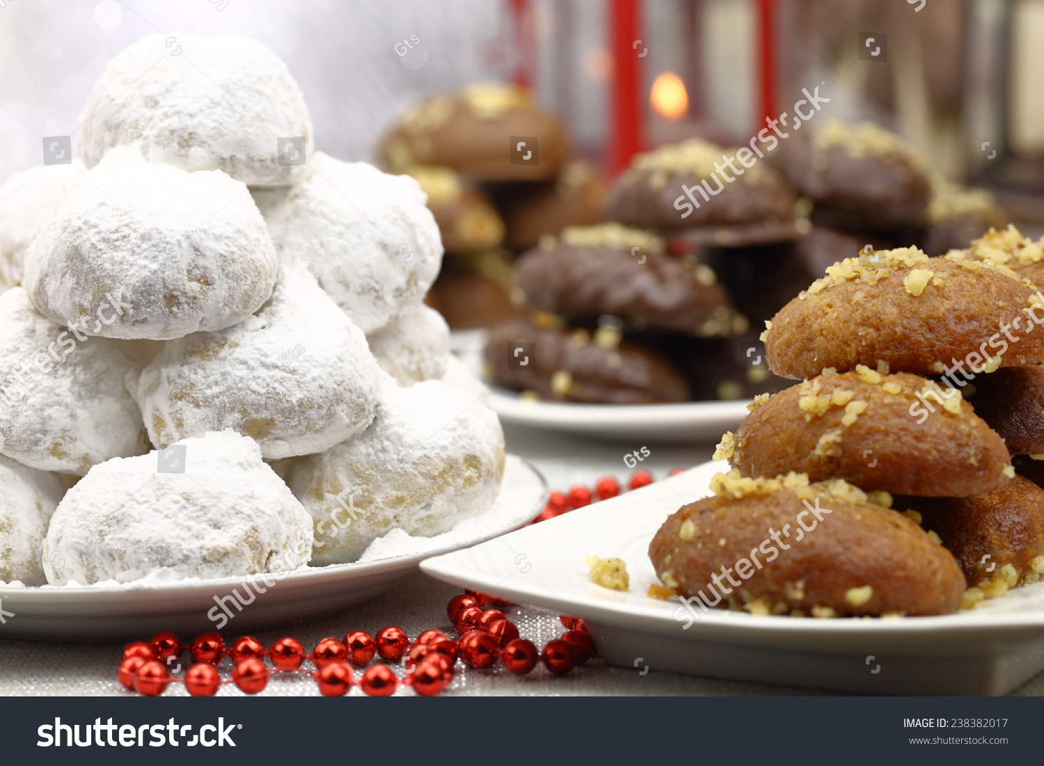 Various christmas traditional desserts on the table stock for List of traditional christmas desserts