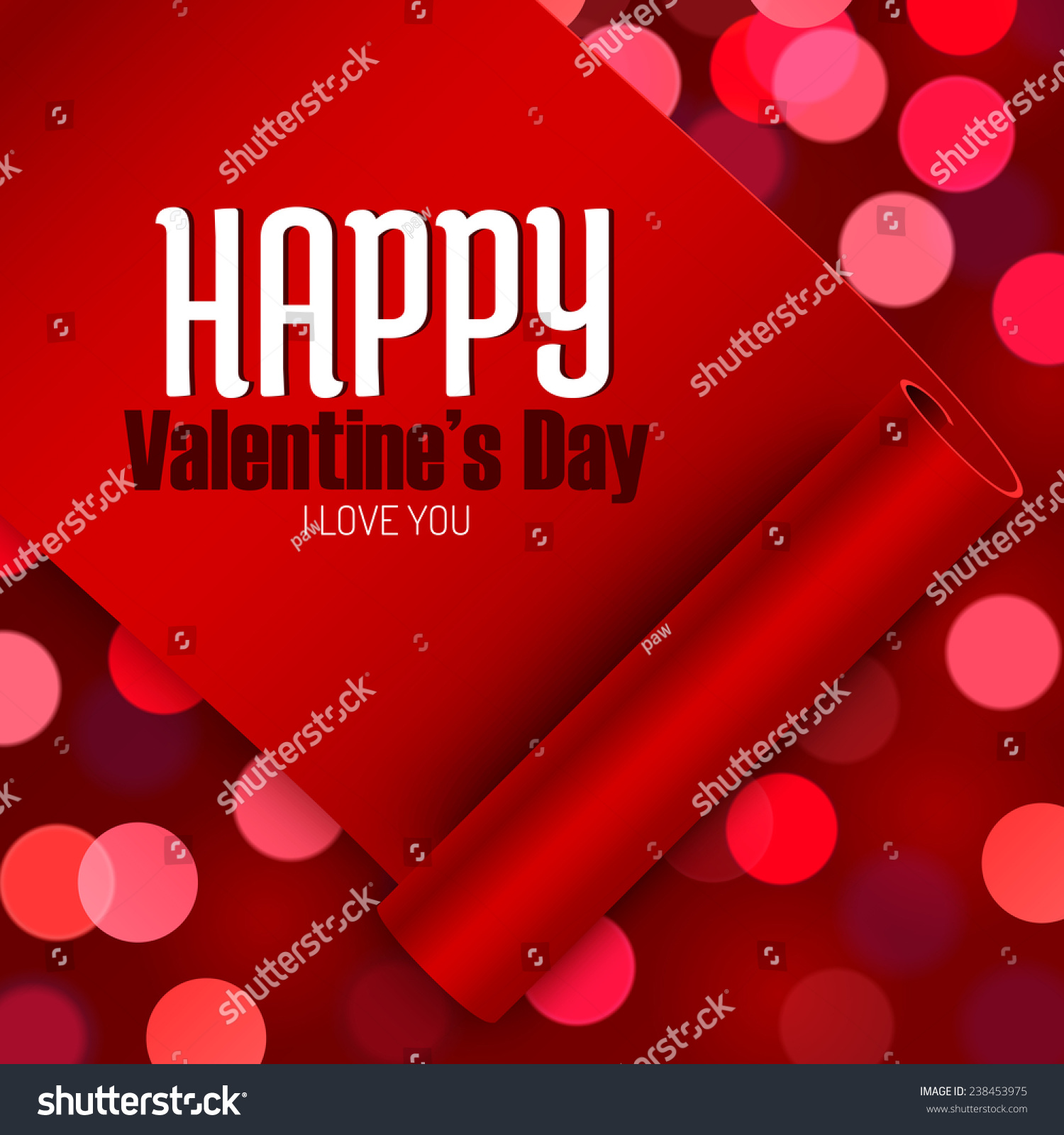 Valentines Day Greeting Card Love Message Stock Vector 238453975
