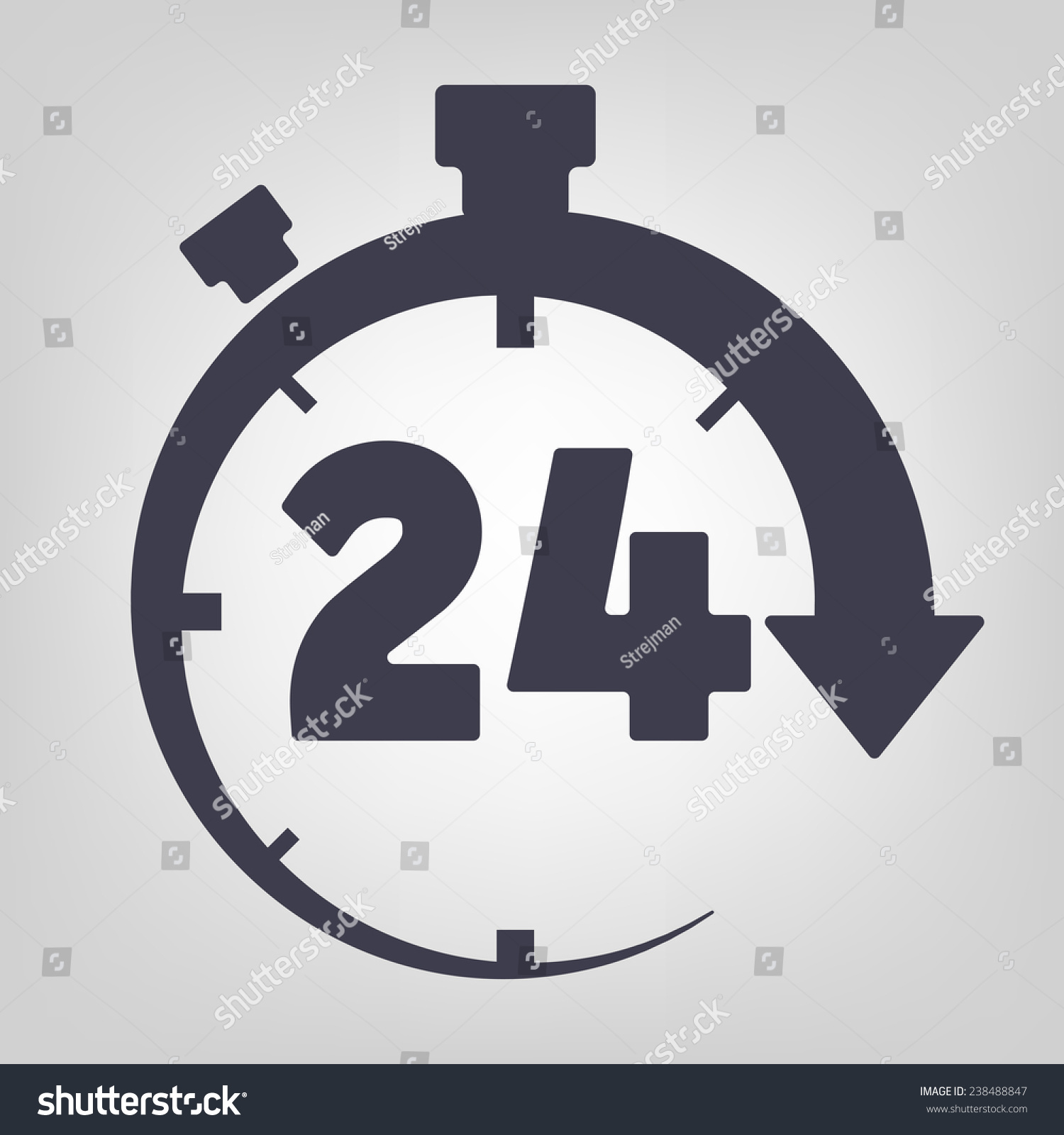 Timer Icon Black Vector Time Clock Stock Vector (Royalty