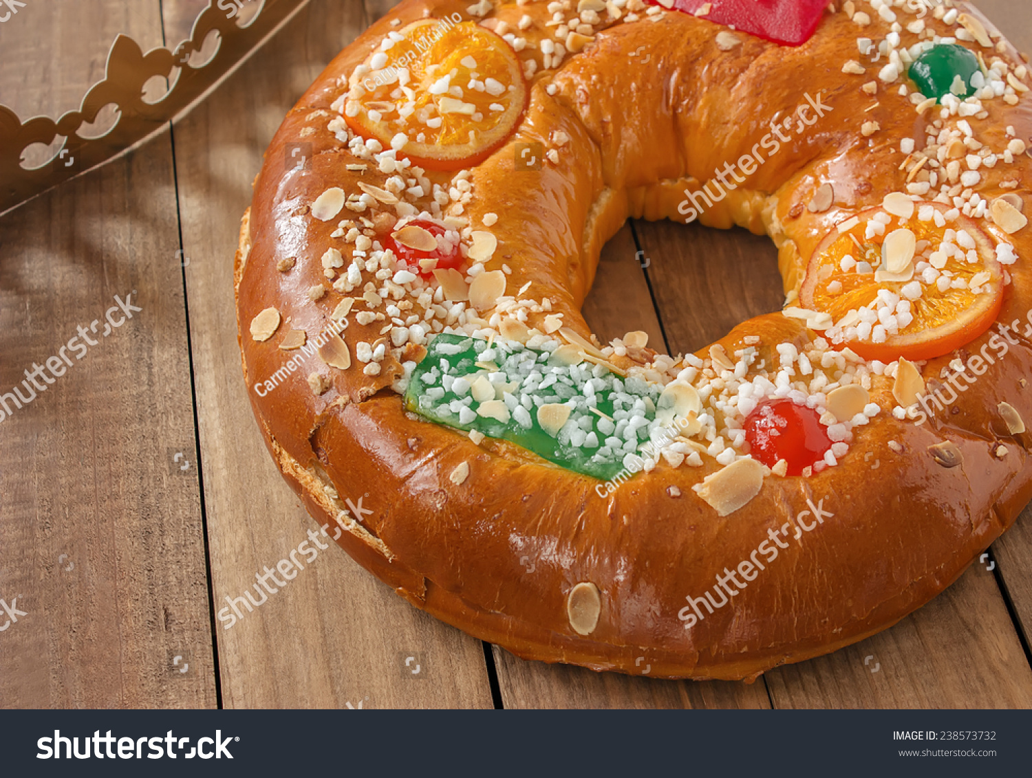 Roscon De Reyes Three Kings Cake Stock Photo 238573732
