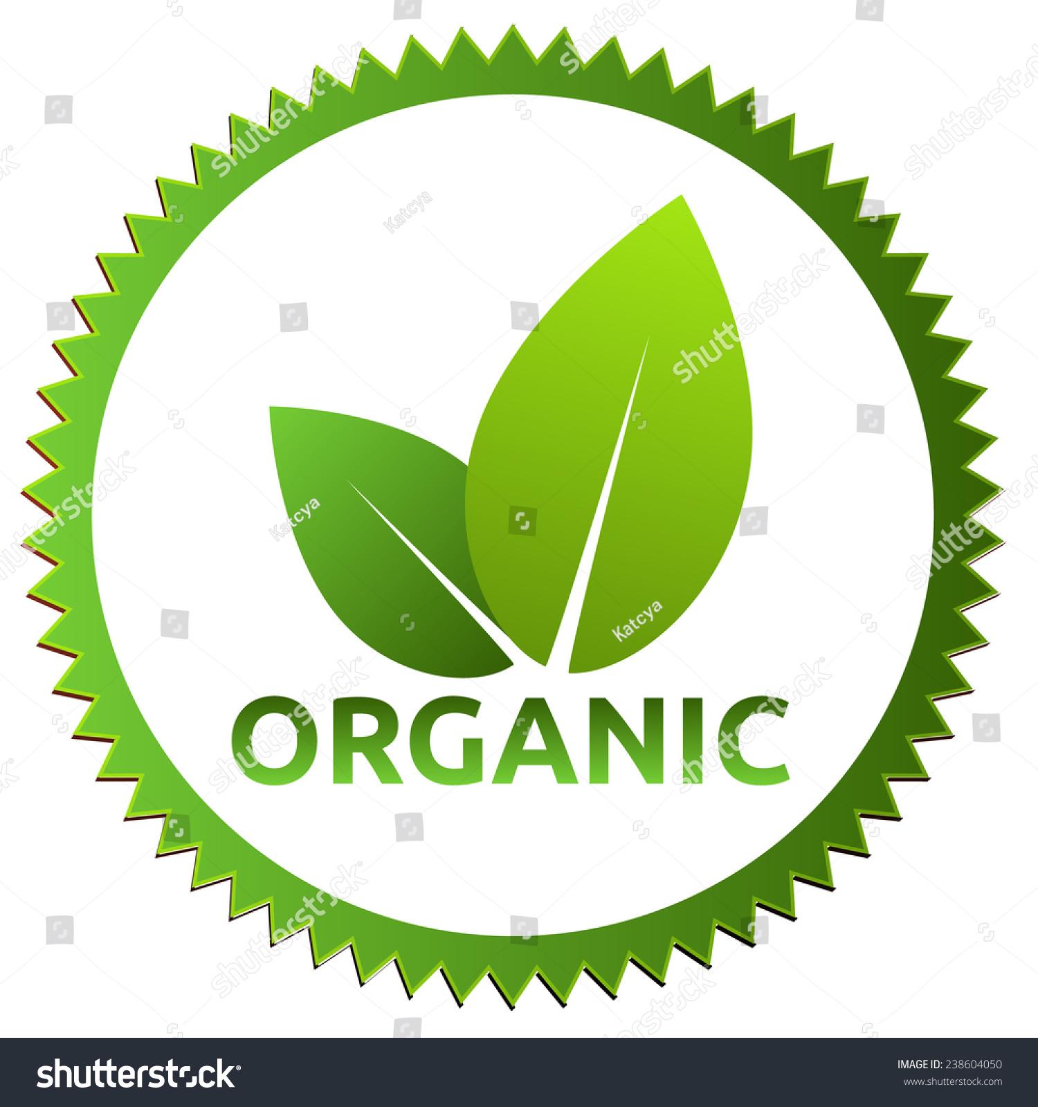 Organic Certification Green Logo Organic Certificate Stock