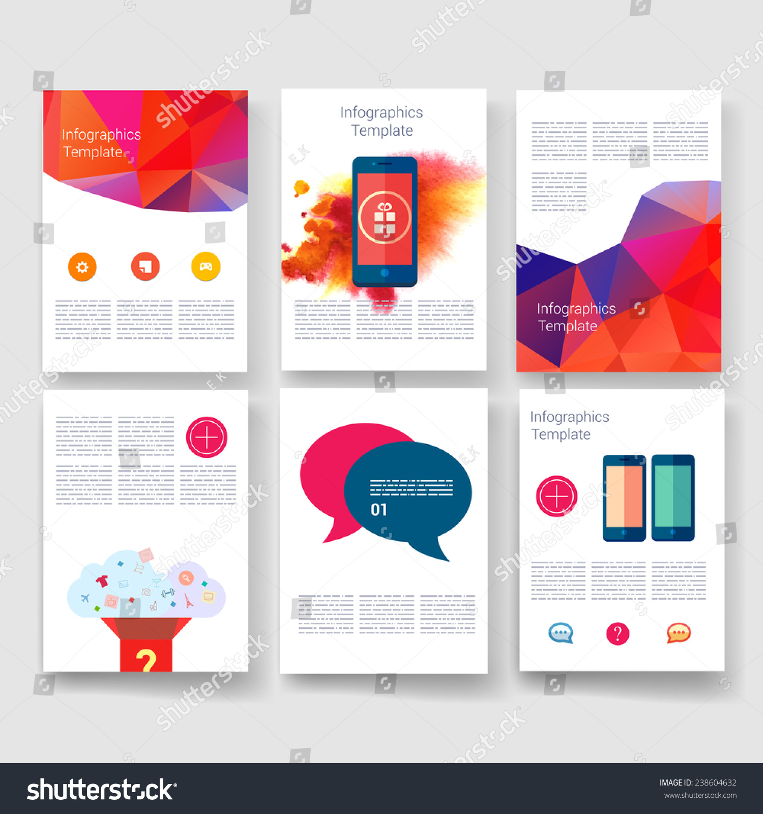 Applications Infographic Concept Flyer Brochure Design Stock Vector Royalty Free 238604632