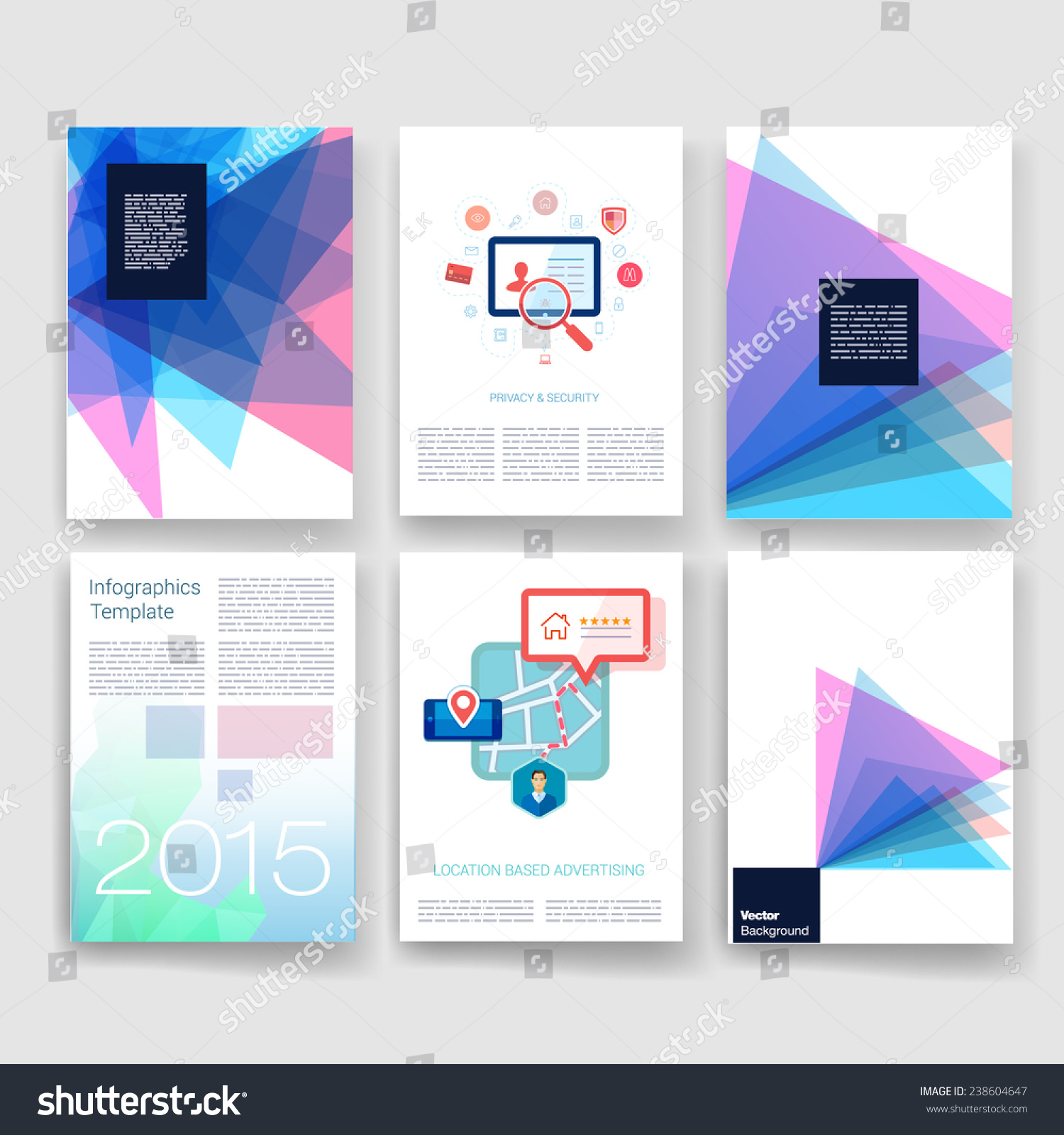 Applications Infographic Concept Flyer Brochure Design Stock Vector Royalty Free 238604647