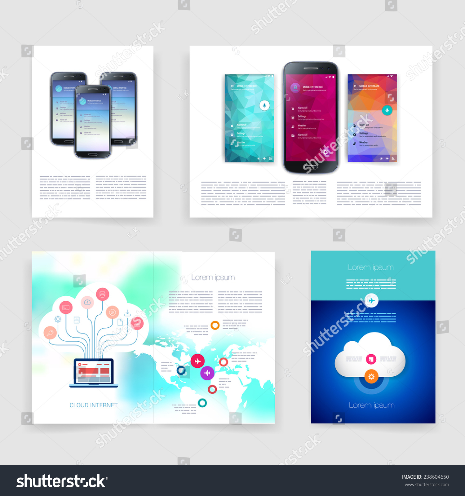 Applications Infographic Concept Flyer Brochure Design Stock Vector Royalty Free 238604650