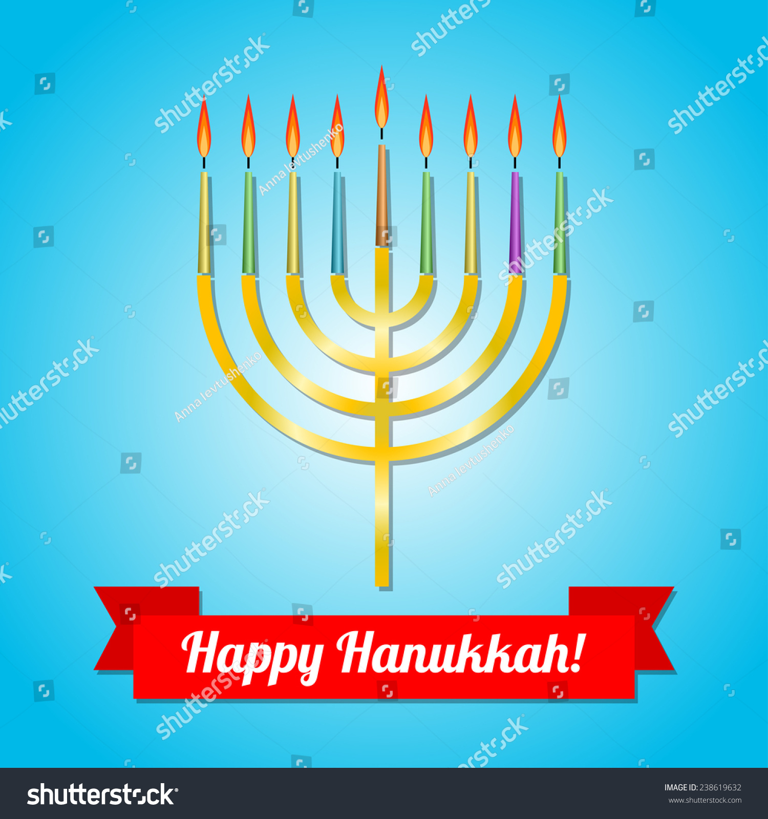 Happy hanukkah greeting card design vector stock vector 238619632 happy hanukkah greeting card design vector illustration m4hsunfo