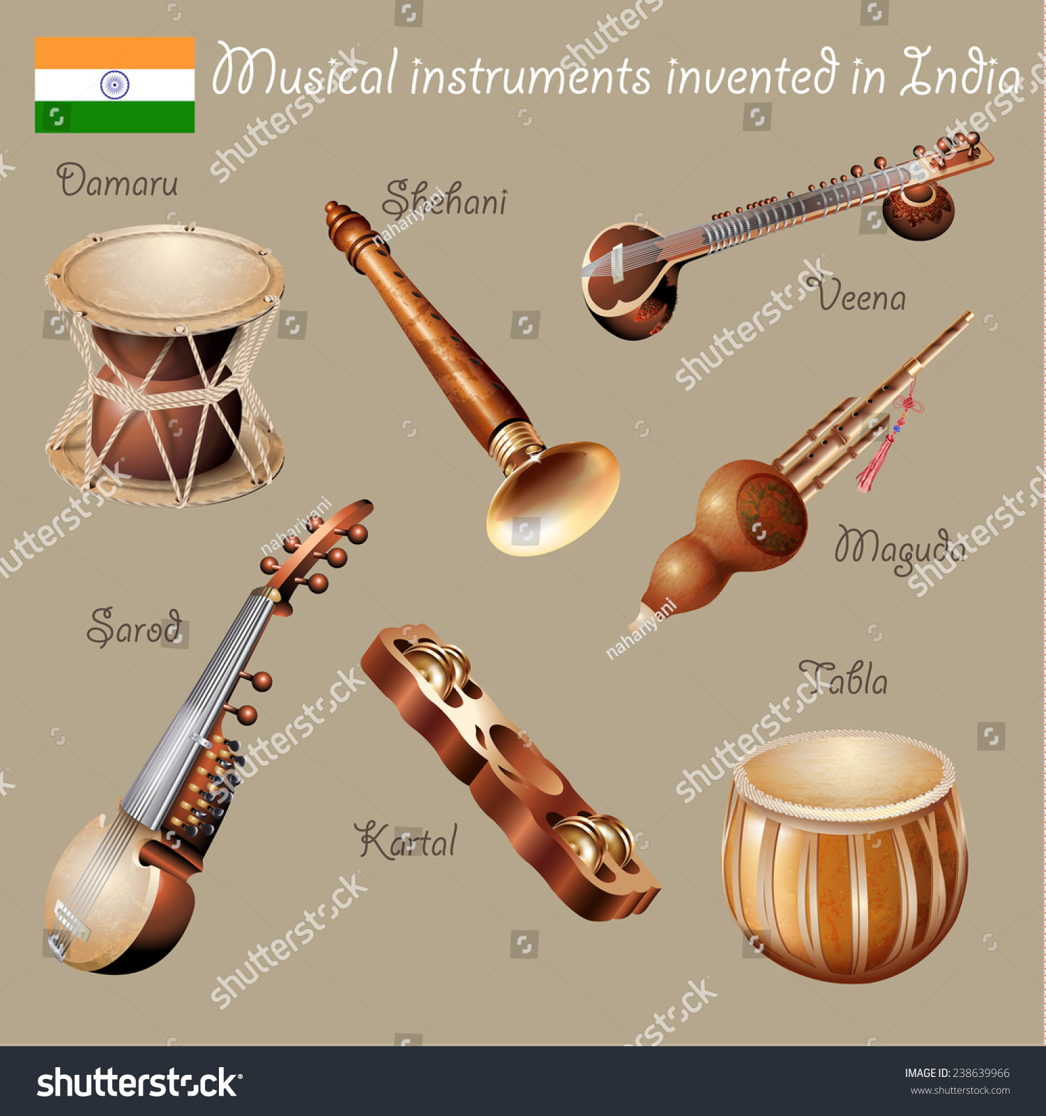 instruments of southern asia