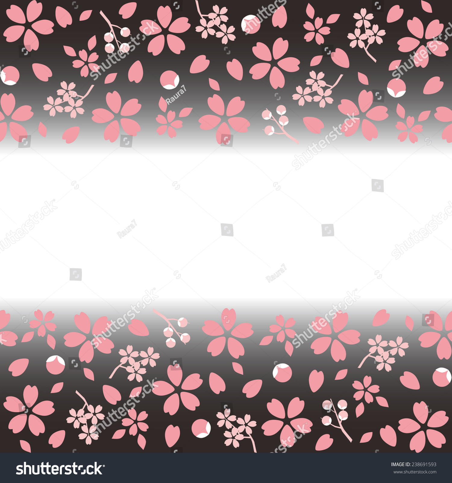 Spring Japanese Sakura Cherry Blossoms Pattern Stock Vector ...