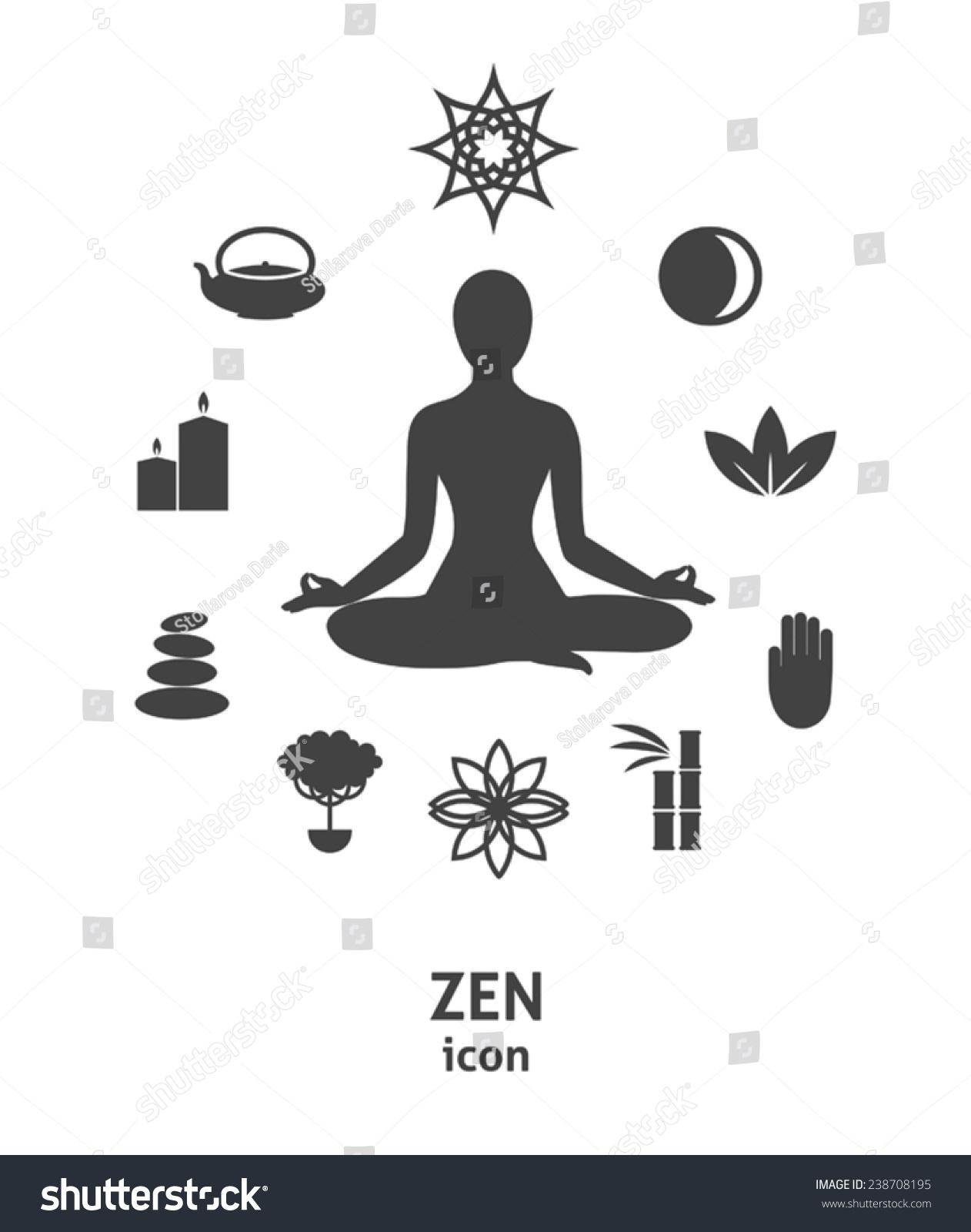 Zen Icon Buddhism Zen Philosophy Circle Stock Vector 238708195 ...