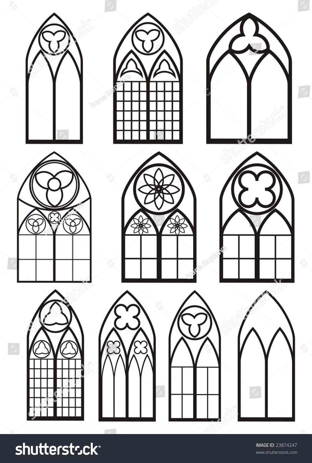 Windows In Gothic Style 23874247