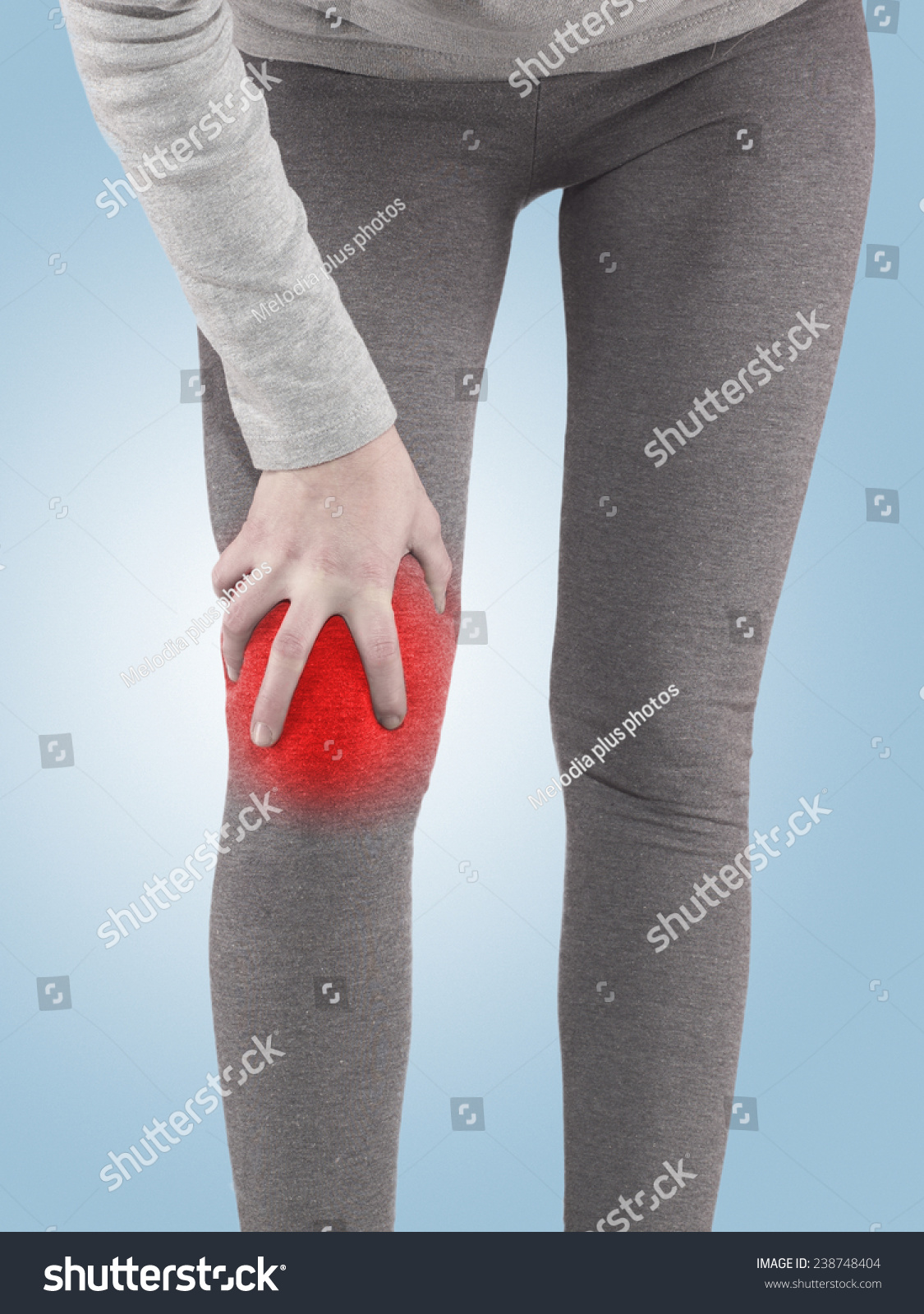 Human Knee Pain Anatomy Injury Caused Stock Photo (Royalty Free ...