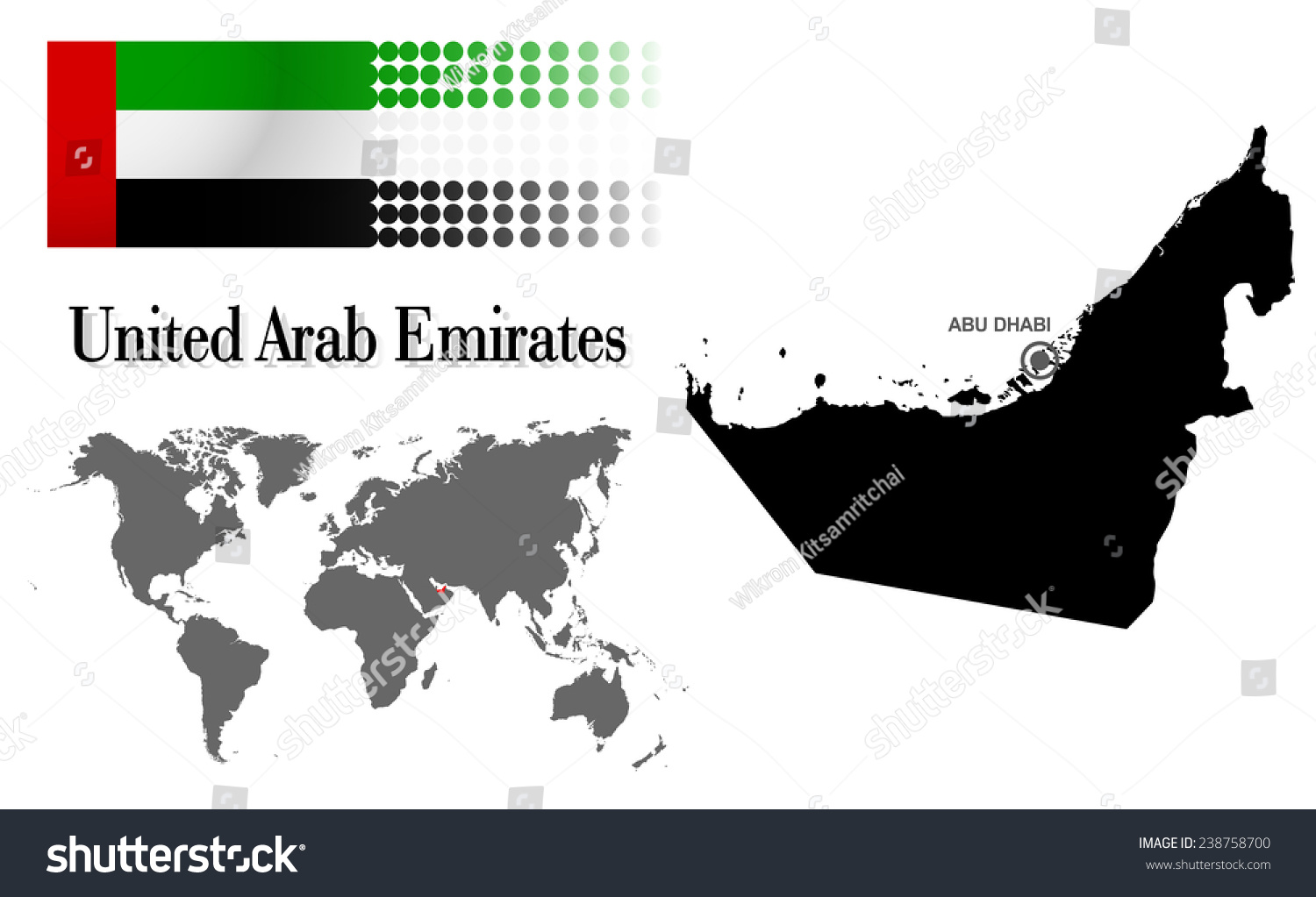 Uae info graphic flag location world stock photo photo vector uae info graphic with flag location in world map map and the capital gumiabroncs Choice Image