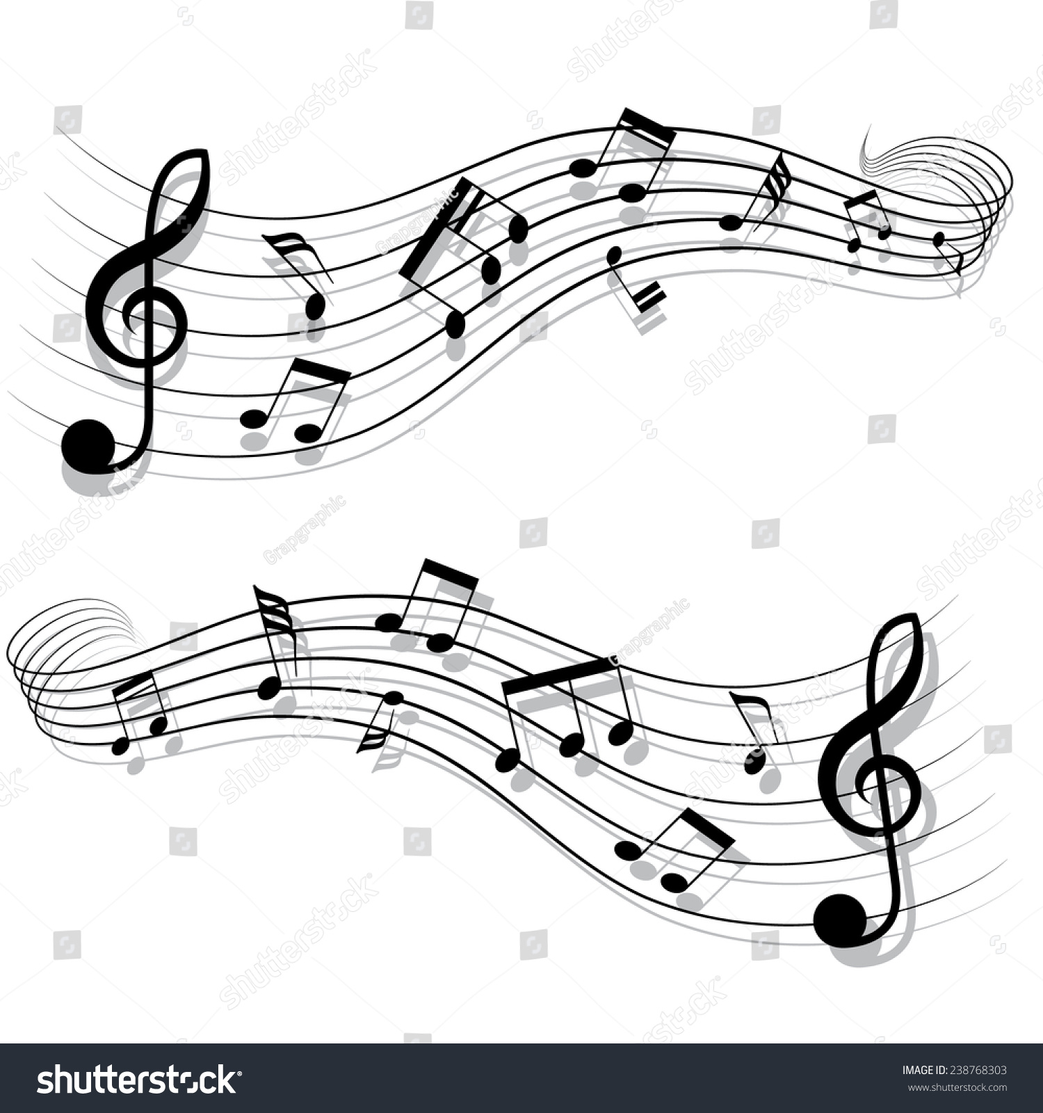 Short musical chords little tail style stock vector 238768303 short musical chords little tail style a vector illustration hexwebz Image collections