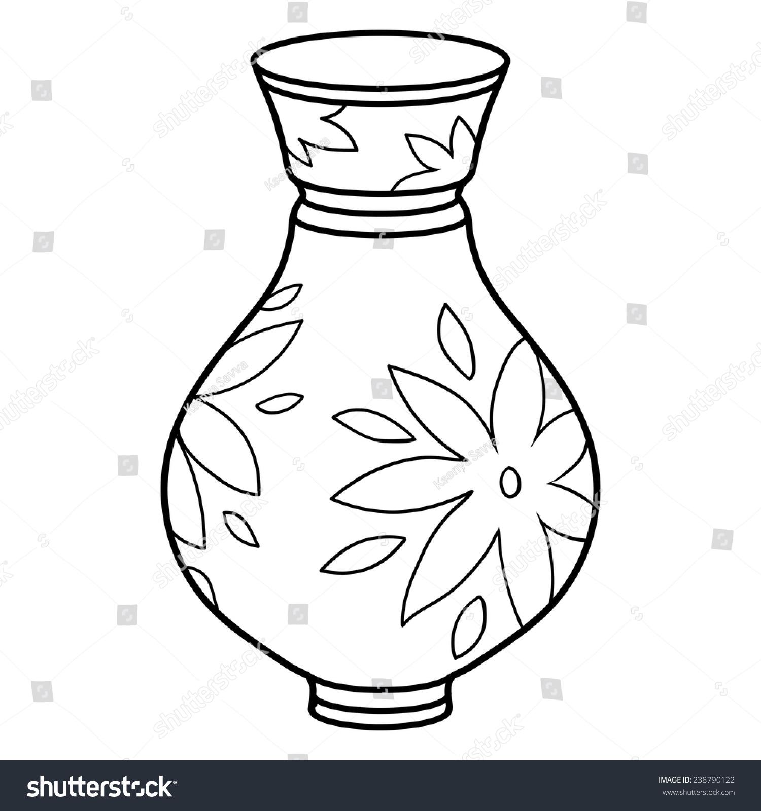Раскраска ваза - 7