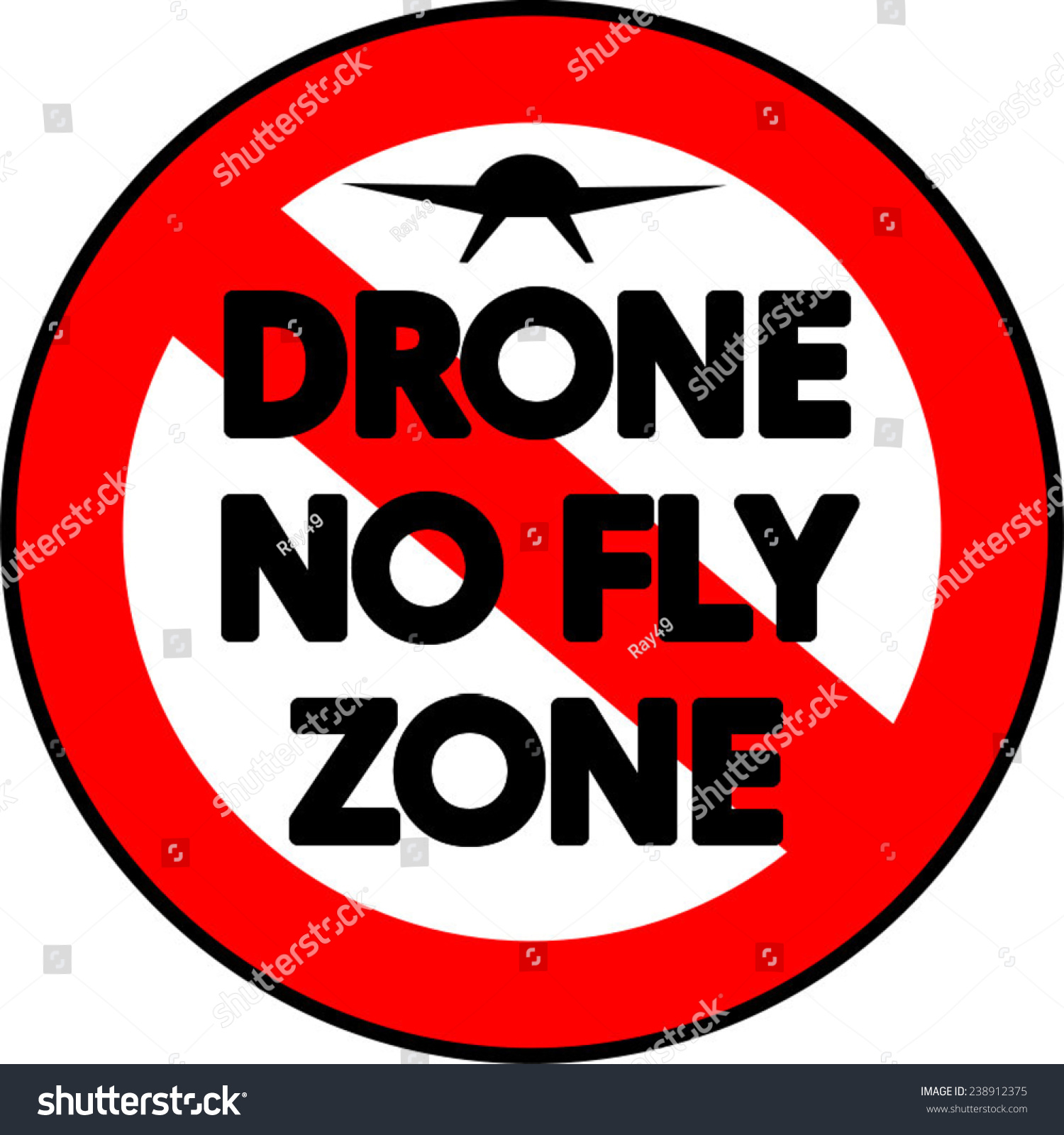 A Prohibitive Drone No Fly Zone Sign Vector 238912375