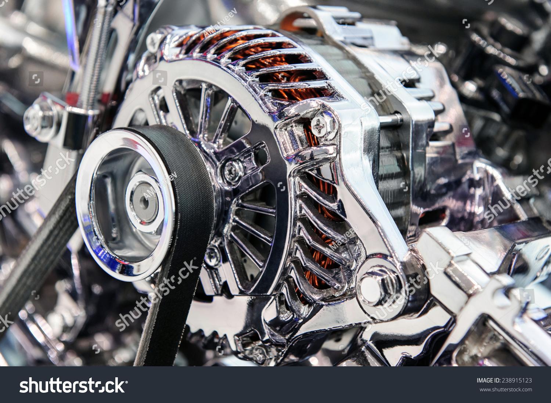Car Engine Fragment Modern Automobile Motor Stock Photo (Edit Now ...