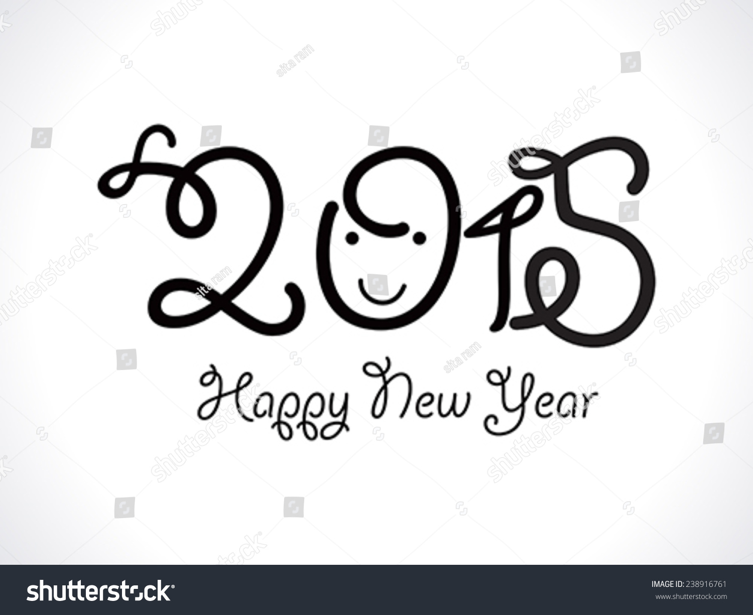 abstract funny new year text vector stock vector 238916761