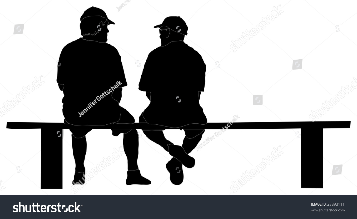Silhouette Two Guys Sitting On Bench Stock Illustration 23893111 ... for People On Bench Silhouette  287fsj