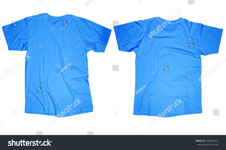 Wrinkled Blank Light Blue Tshirt Template Stock Photo Edit Now