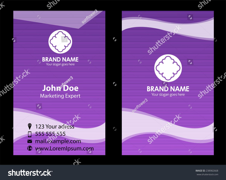 Purple Business Card Stock Vector 238982668 - Shutterstock