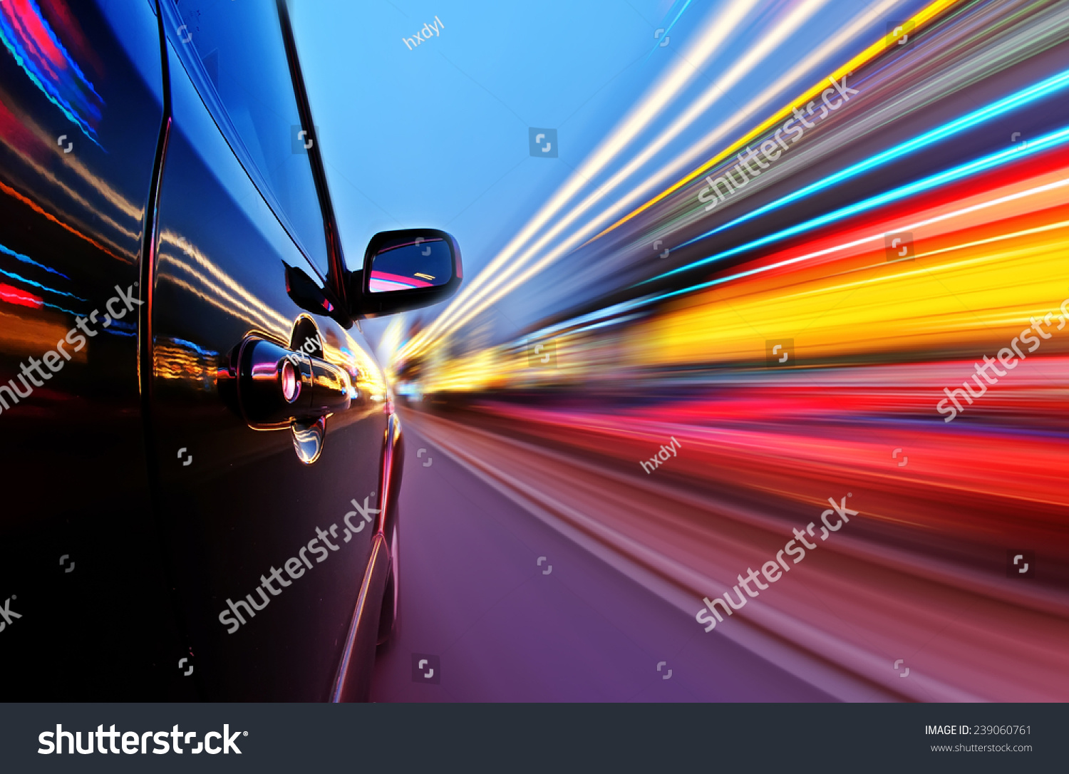 car on road motion blur background stock photo 239060761 shutterstock. Black Bedroom Furniture Sets. Home Design Ideas