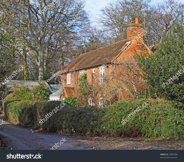 Red Brick English Village Cottage Garden Stock Photo (Edit Now ...
