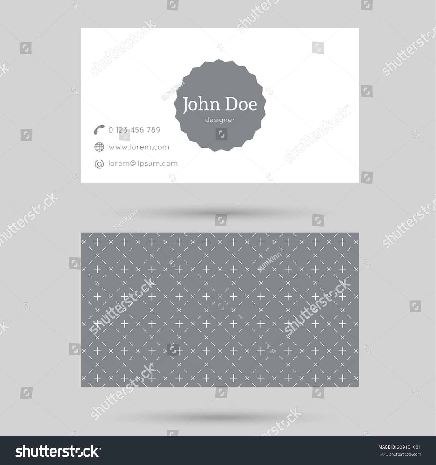 Trendy Business Card Template Vintage Label Stock Vector 239151031 ...