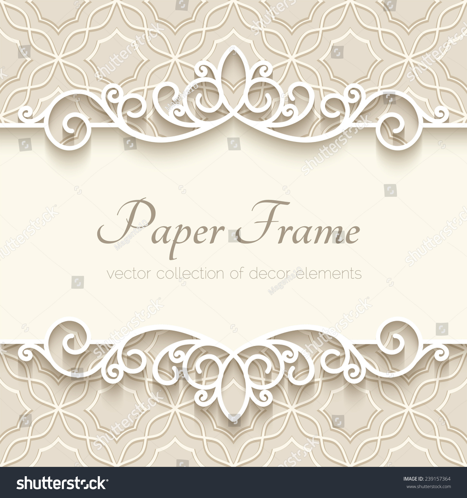 Vintage vector background paper border decoration stock for Background decoration images