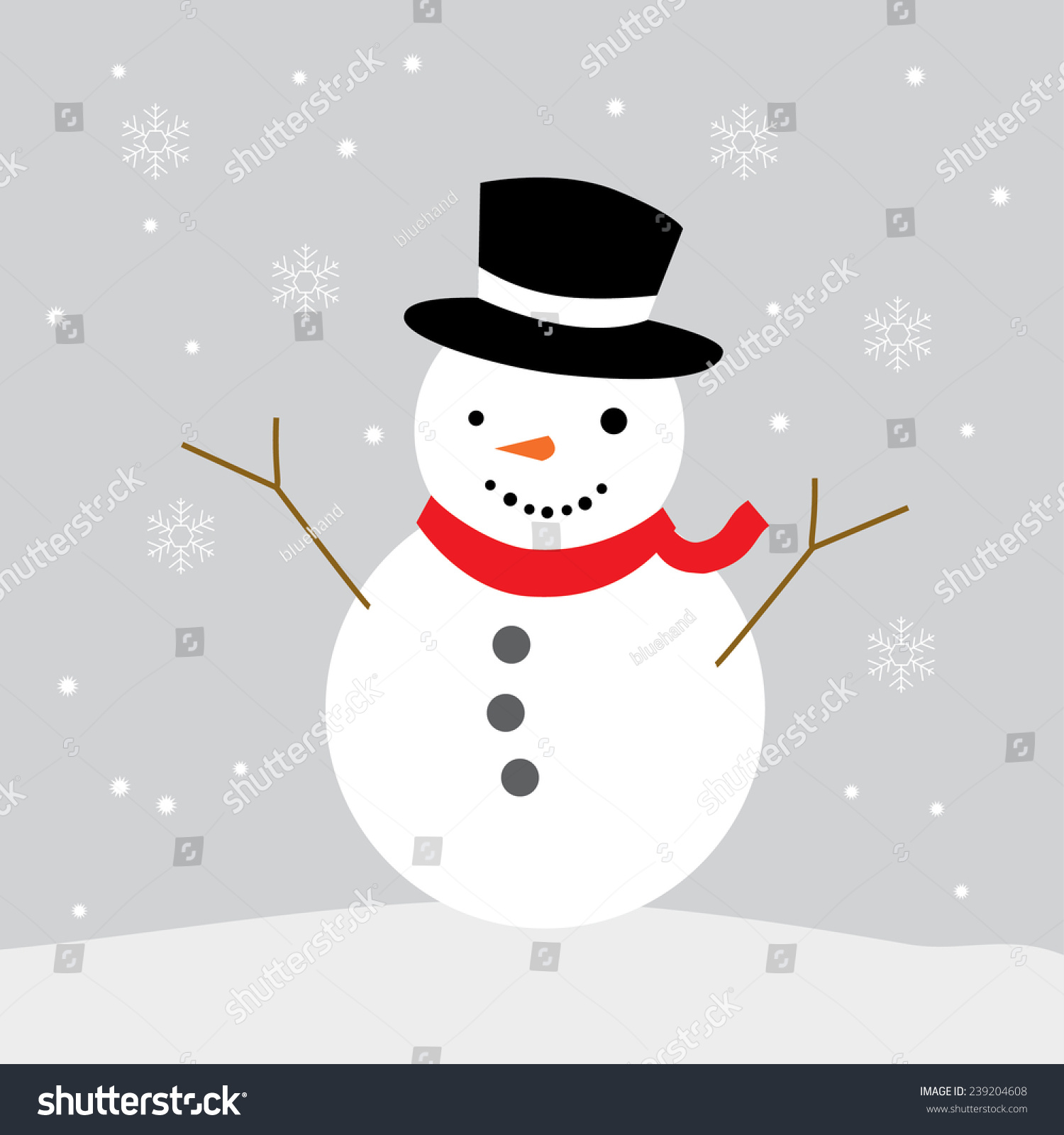 Snowman Drawing Vector Graphic Illustrate Eps 10 Stock Vector ...