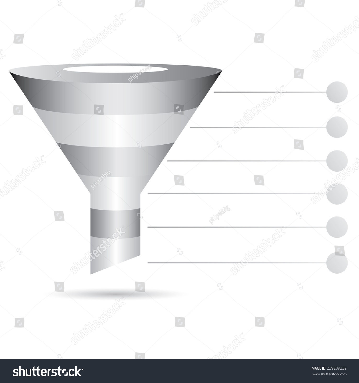Metal Filter Diagram  Funnel Diagram  Marketing And Sale