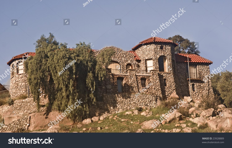 Rock Castle House Perris California Stock Photo 23928889