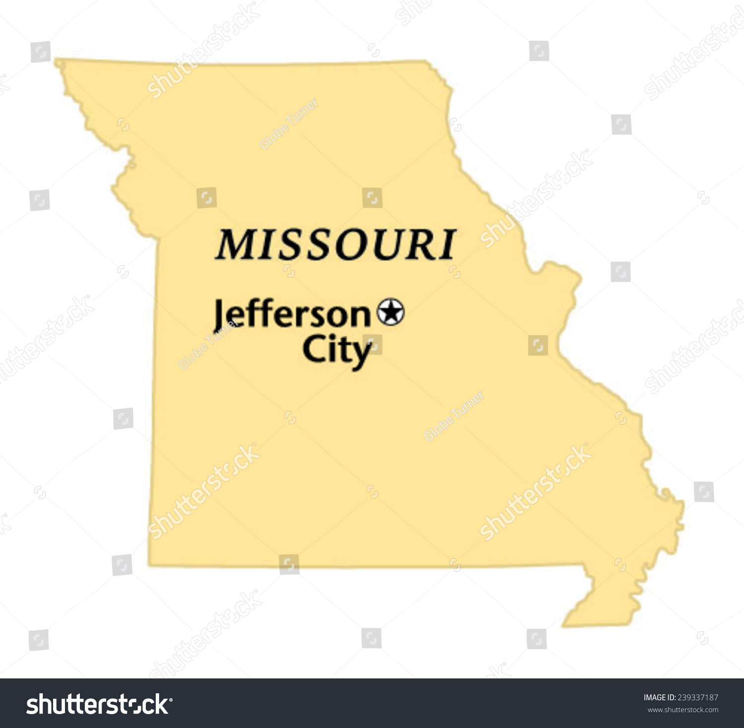 Jefferson City Missouri Locate Map Stock Vector (Royalty Free ...