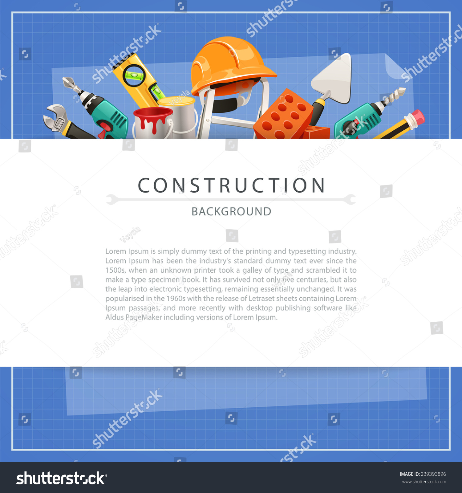 Blueprint construction background copy space eps stock vector blueprint construction background with copy space in the eps file each element is grouped malvernweather Gallery