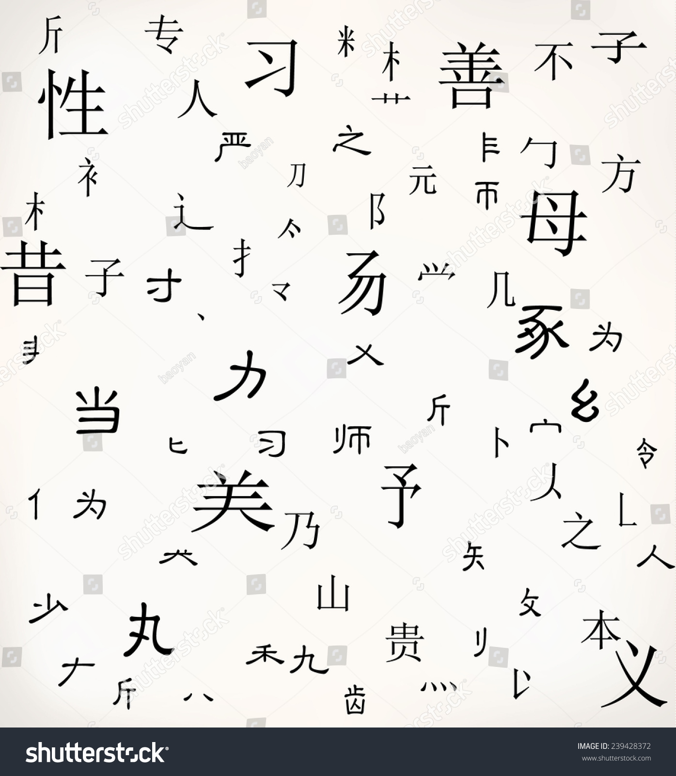 Chinese Character Background Translation Gendermother Rest Stock