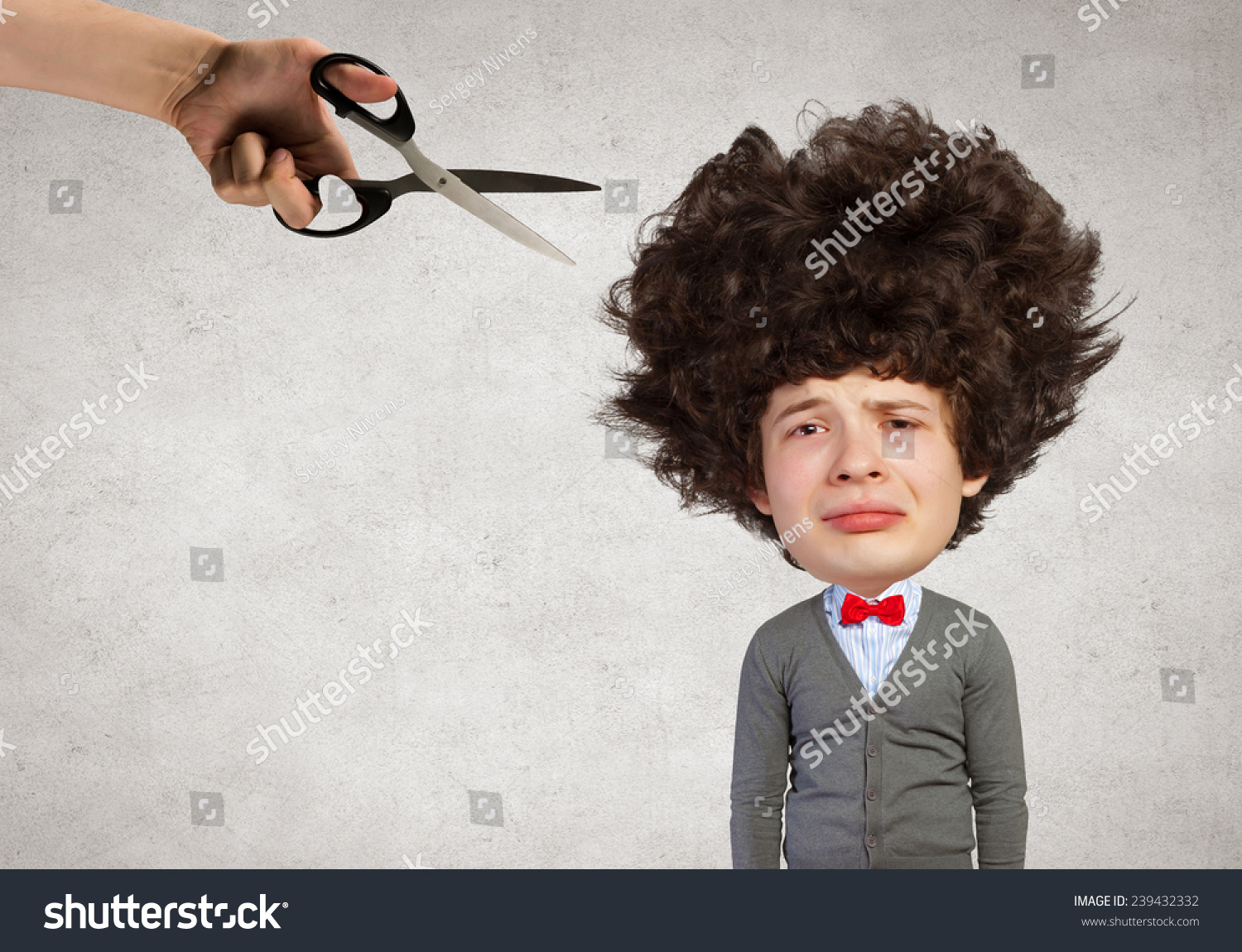 Young Funny Man Big Head Long Stock Photo Edit Now 239432332