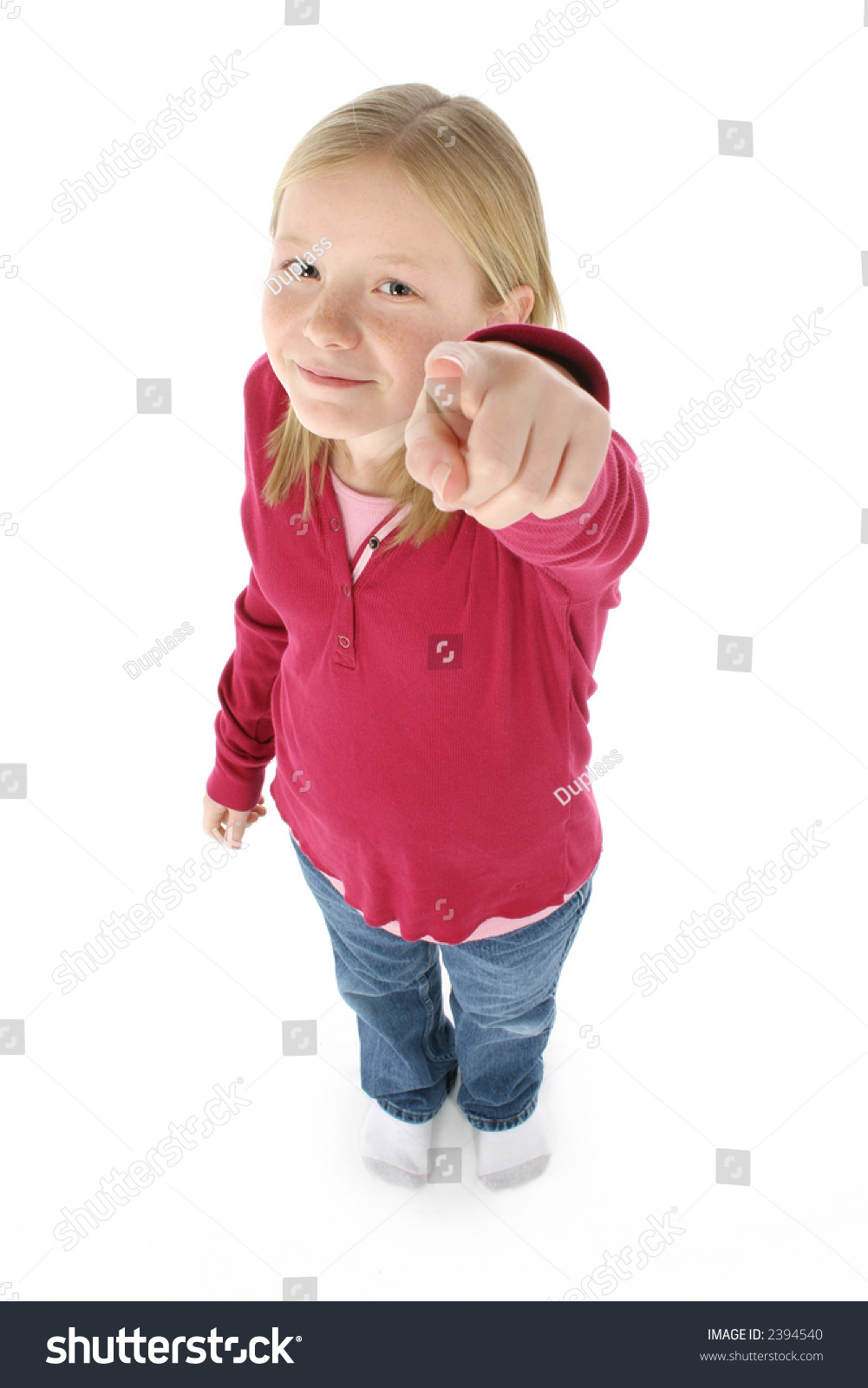 Beautiful 11 Year Old Girl Pointing Stock Photo 2394540 - Shutterstock-4167