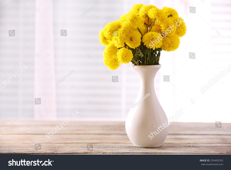 Beautiful Flowers Vase Light Window Stock Photo Edit Now 239493763