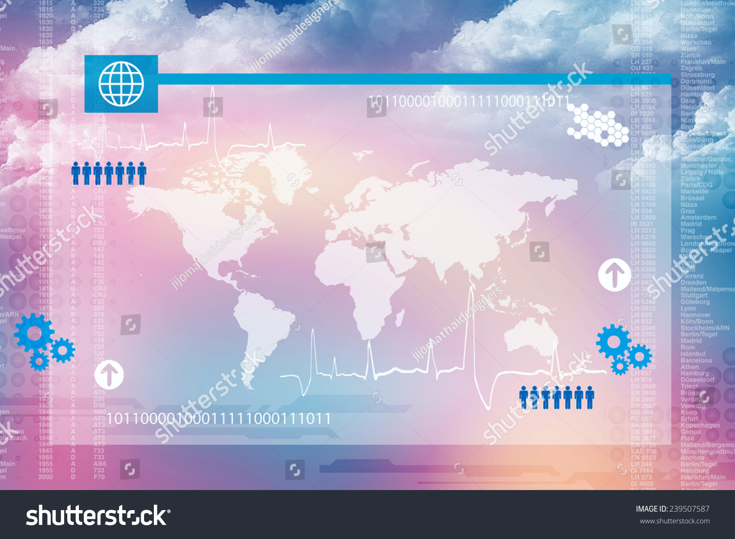World Map Business Background Stockillustration 239507587 – Shutterstock