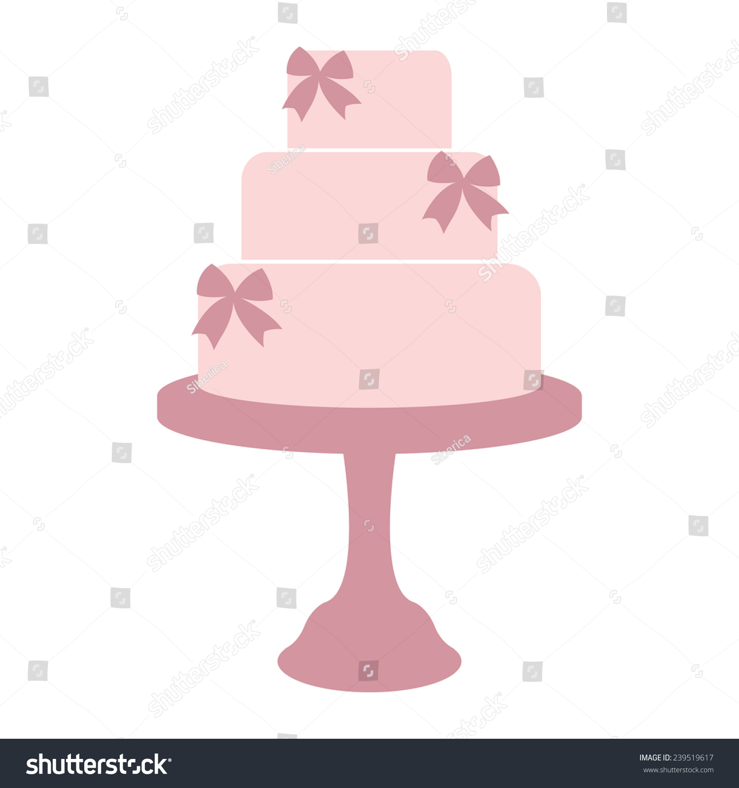 vintage wedding cake label isolated on stock vector