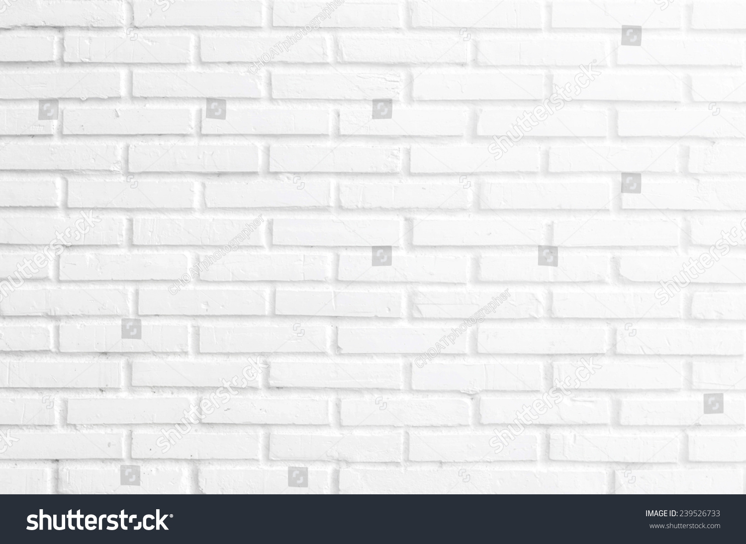 Bathroom Wallpaper Concept Close Up Modern White Bricks Wall Texture Background