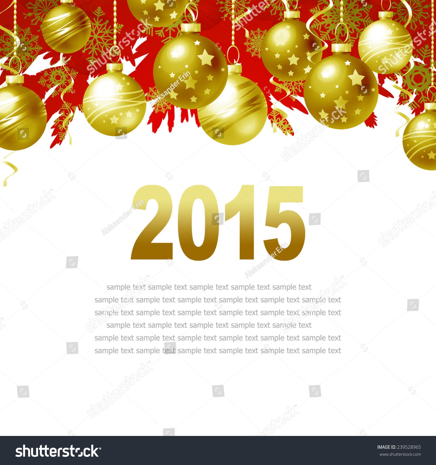 New Year Greeting Card Christmas Balls Stock Illustration 239528965