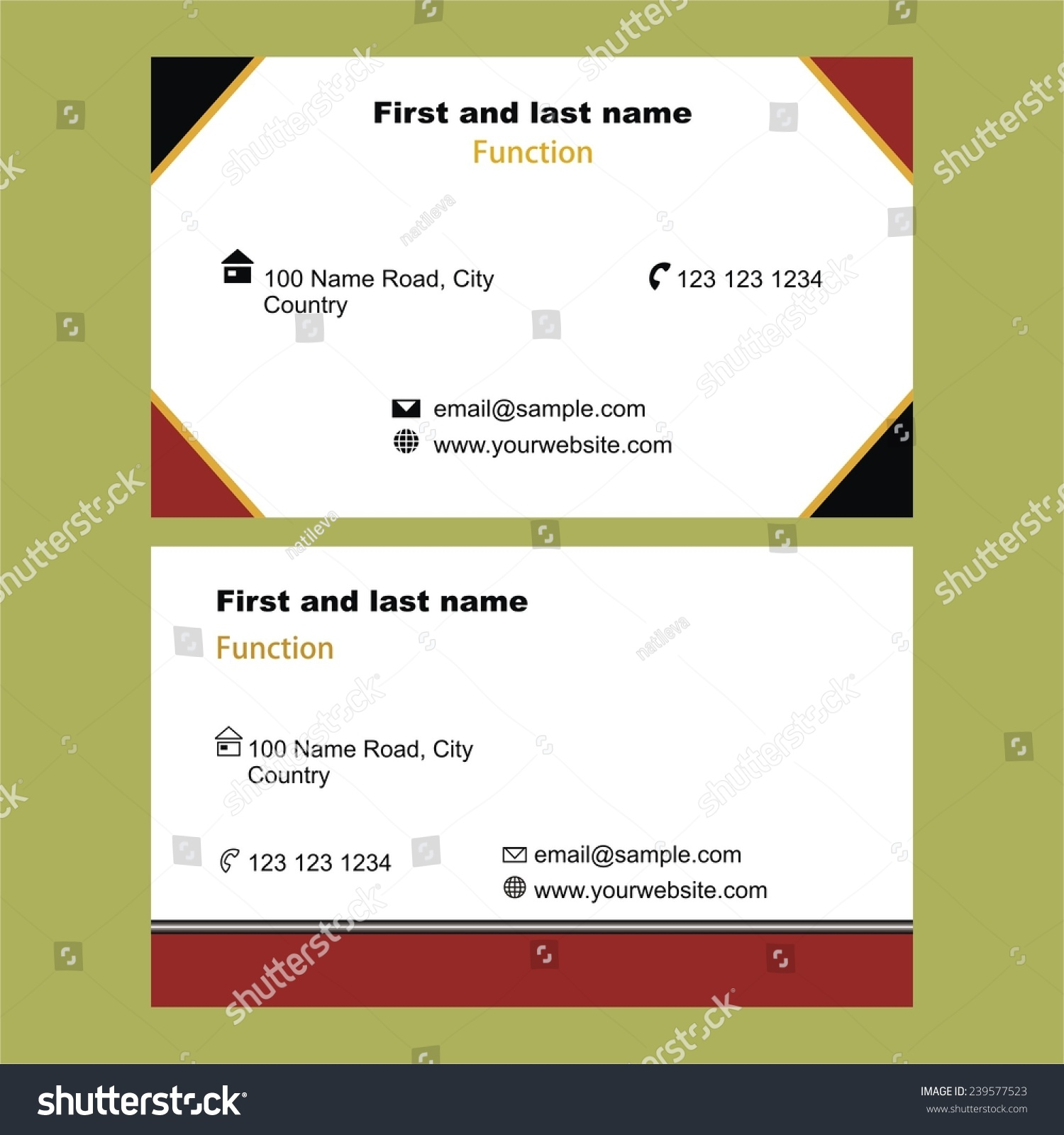 Two stylish single sided business cards stock vector 239577523 two stylish single sided business cards stock vector 239577523 shutterstock colourmoves