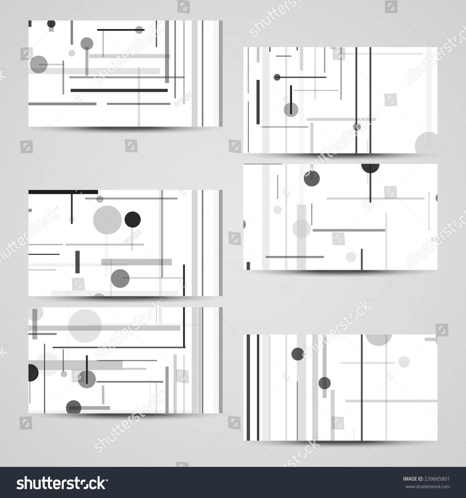 Vector Businesscard Set Your Design Circuit Stock Vector 239665801 ...