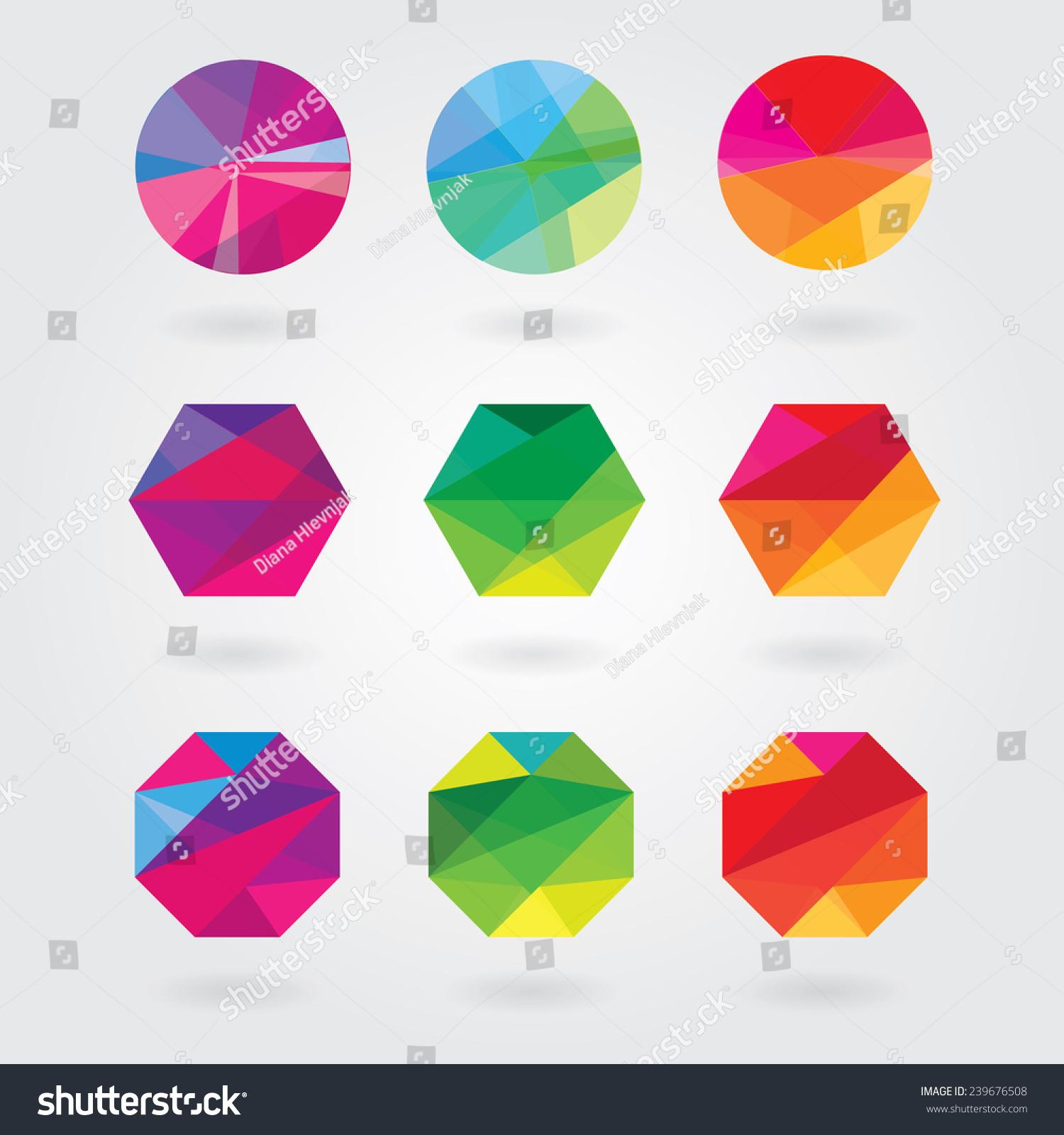Trendy Modern Abstract Logo Element Designs Stock-vektorgrafik ...