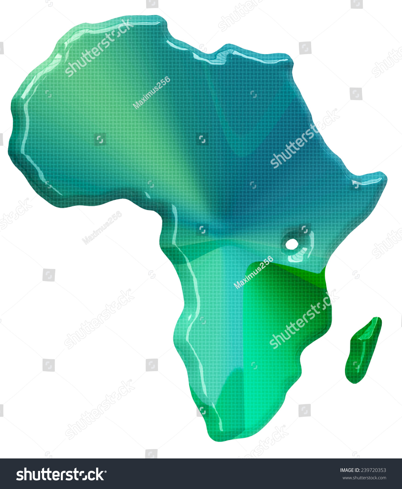 Map Of Africa 3d.Map Africa 3 D Style Stock Illustration 239720353 Shutterstock