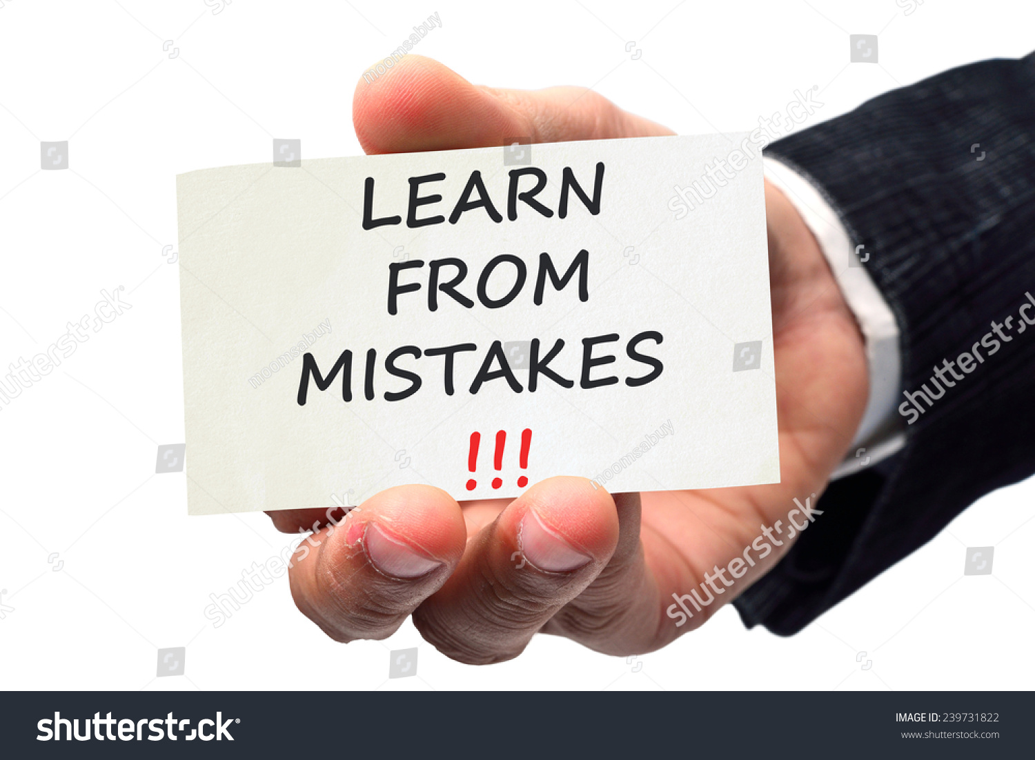 Learn From Mistakes Concept Stock Photo 239731822
