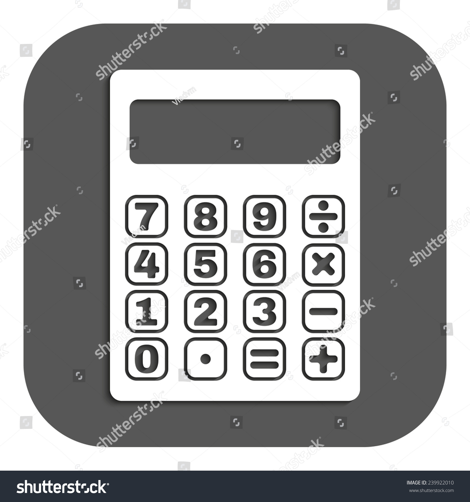 Calculator Icon Calculator Symbol Flat Vector Stock Vector 239922010 ...