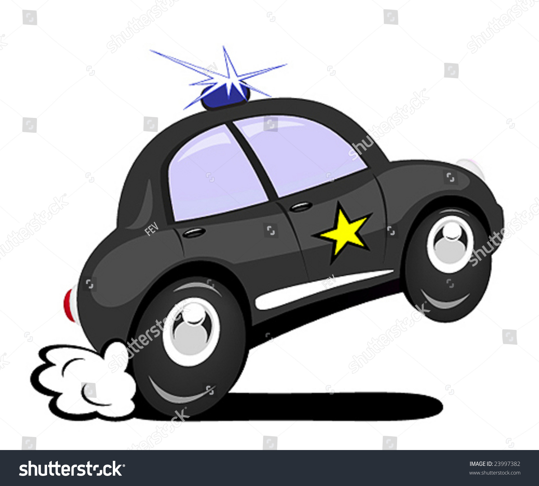 Cartoon Police Car Stock Vector 23997382