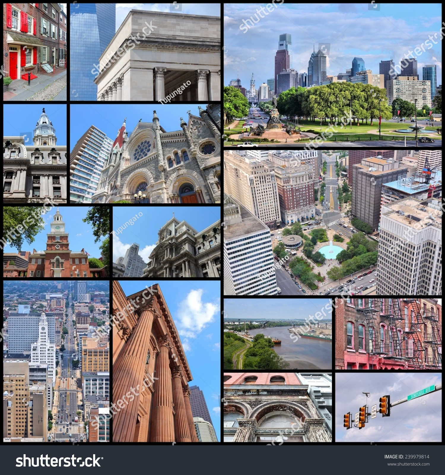 Philadelphia United States Photo Collage Collection Foto de stock ...