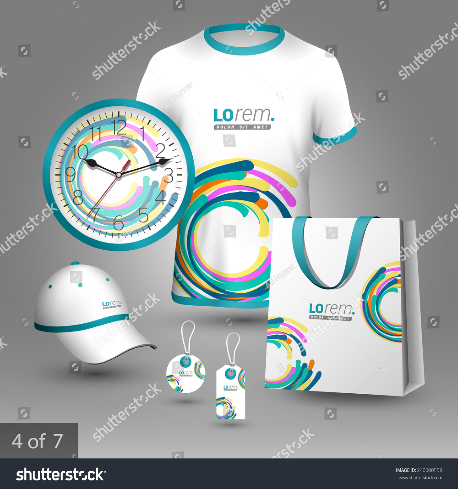 Colorful Promotional Souvenirs Design Company Circles Stock Vector